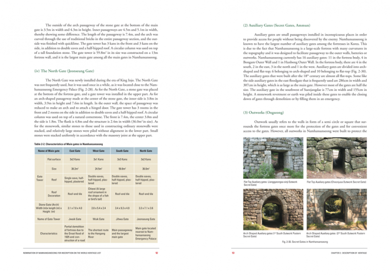 유네스코 세계문화유산 등재신청서 : 남한산성